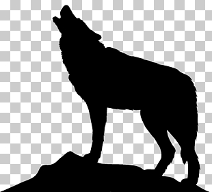 Hund Arctic Wolf-Symbol, heulender Wolf Silhouette PNG Clipart