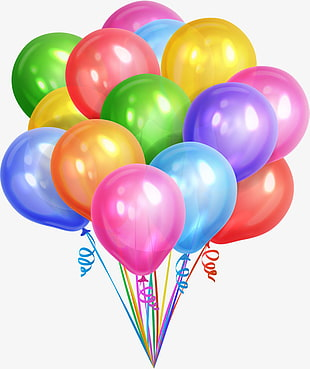 farbige Ballonillustration, bunte Traumballone PNG Clipart