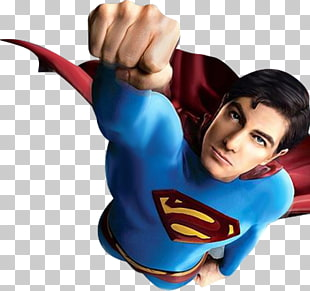 dc superman fliegende illustration, Clark Kent Superman Logo Brandon Routh, Superman PNG Clipart