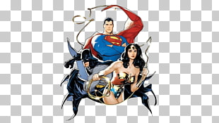DC Gerechtigkeit Liga Superman, Wunderfrau und Batman, Clark Kent Diana Prinz Batman Joker DC Comics, Superman Batman Anime Charakter PNG Clipart