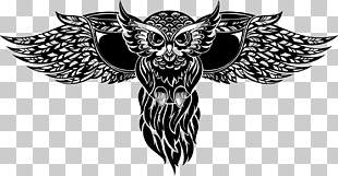 Eule Totem Tattoo Illustration, Tätowierung PNG Clipart