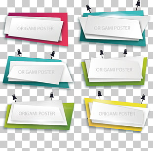 Poster euklidisch, ppt, sechs Origami-Poster PNG Clipart