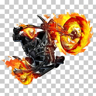 Ghost Rider Illustration, Marvel Heroes 2016 Ghost Rider schwarzer Panther Johnny Blaze Clint Barton, Ghost Rider Bike-Datei PNG Clipart
