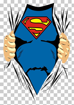 Superman Brust Illustration, Clark Kent T-Shirt Superman Logo amerikanischen Comic-Hülle, Superman PNG Clipart