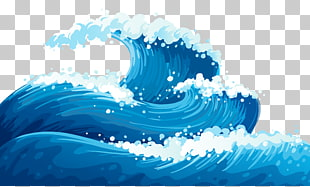 Windwelle euklidische Welle, blaue Meereswellen Boden, blaue Wellen Illustration PNG Clipart