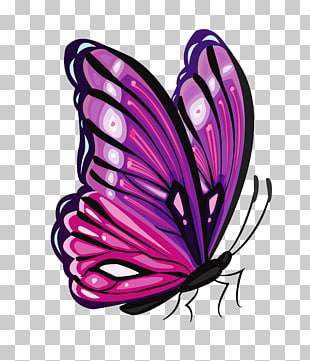 Schmetterling lila, lila Schmetterling, lila und rosa Schmetterling PNG Clipart