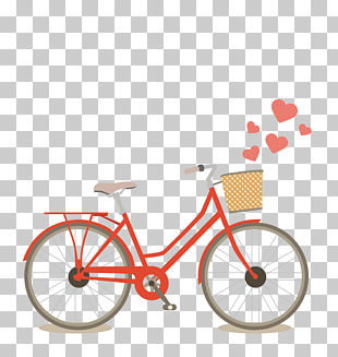 rotes Fahrrad, rote Pendlerfahrradillustration PNG Clipart