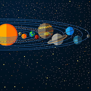 Sonnensystem Illustration, Sonnensystem Planet Jupiter Illustration, Sonnensystem, Stern PNG Clipart