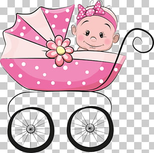 Baby in Kinderwagen Illustration, Säuglingskarikaturillustration, Baby im Kinderwagen PNG Clipart