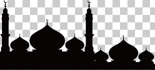 Tempel Moschee Silhouette, Moschee Silhouette, Moschee Silhouette PNG Clipart