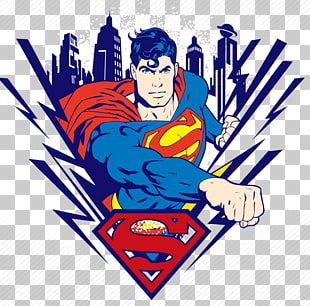 Superman, Clark-Kent-Jor-el-T-Shirt, Karikatur-Supermann PNG Clipart