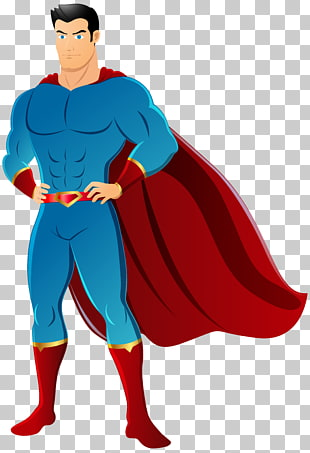 Mann mit Kap Illustration, Superman Flash Diana Prinz Batman, Superheld PNG Clipart