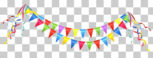 Party Geburtstag, Party Streamer, farbige Wimpelillustration PNG Clipart